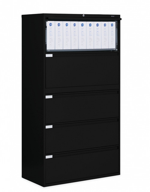 5 Drawer Lateral File in Black, 36""