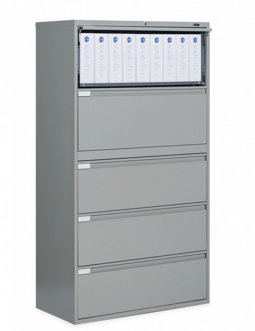 5 Drawer Lateral File in Light Grey, 36""