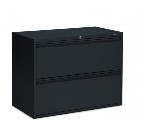 1900 Series 2 Drawer Lateral File in Black