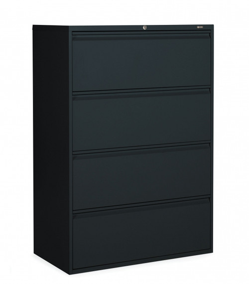 1900 Series 4 Drawer Lateral File in Black