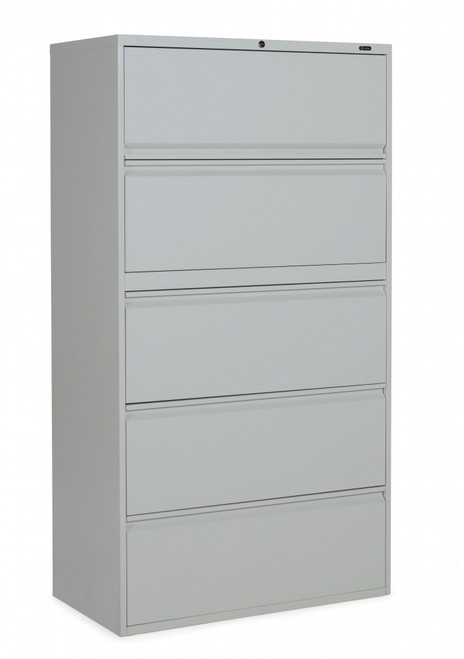 1900 Series 5 Drawer Lateral File in Light Grey