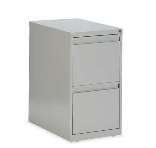 G Series Mobile Pedestal in Light Grey with 2 file drawers