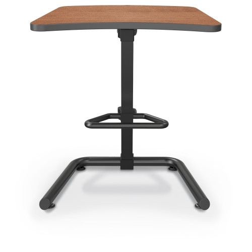 Up-Rite Student Sit-Stand Desk with Amber Cherry laminate top
