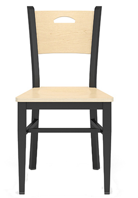 Concord Cafe Chair with Wood Seat