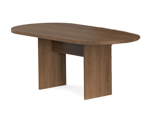 Amber Racetrack Conference Table in Walnut