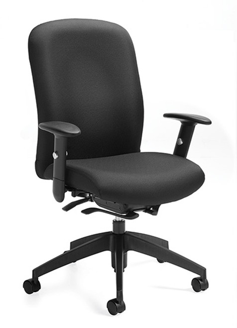Global Truform Upholstered High Back Weight Sensing Synchro Tilter