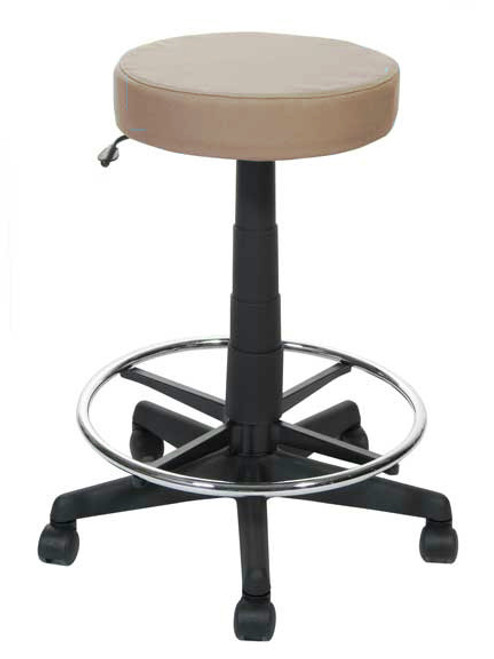 Doctor Stool in Canter Vinyl Earth with optional footring