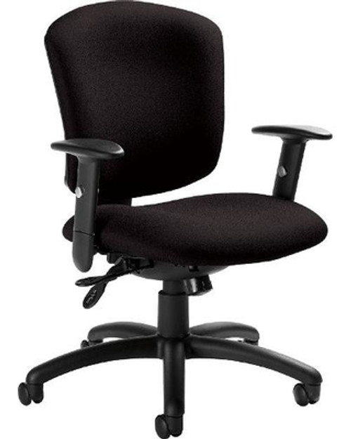 Global Supra X Upholstered Medium Back Multi Tilter in Black (S110) Fabric