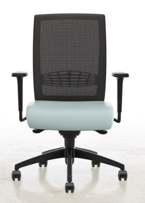 Lavoro Mesh High Back with Synchronous Tilt with height and width adjusting arms