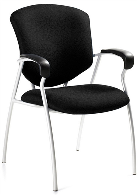 Global  Supra Guest Chair With Arms in Black