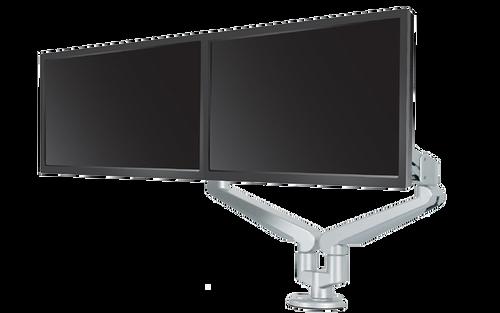 Edge 2 Dual Monitor Arm, silver finish