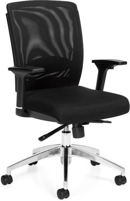 Offices to Go Mesh Back Synchro-tilt Managers Chair