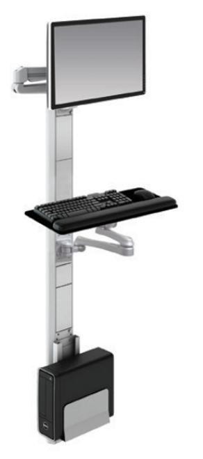 ESI Titan 2 Edge Single Track Wall Workstation