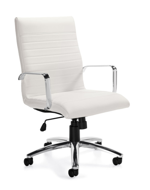 Offices to Go Luxhide Managers Chair in White Luxhide