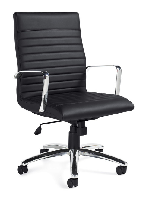 Offices to Go Luxhide Managers Chair in Black Luxhide
