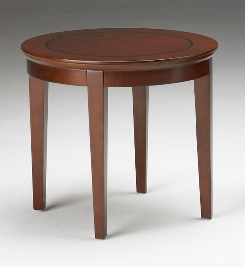 Sorrento Round End Table in Bourbon Cherry