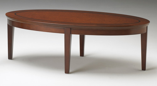 Sorrento Oval Coffee Table in Bourbon Cherry