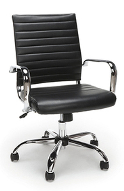 Mid Back Conference Work Chair, Classic Black