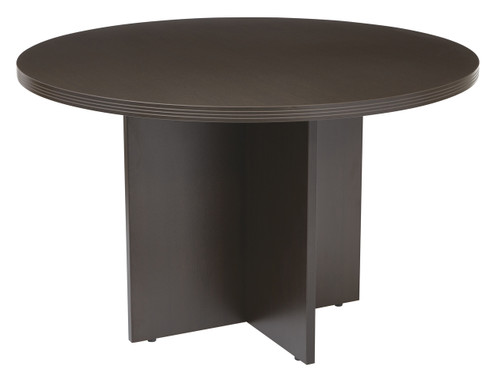 Napa Round Conference Table in Espresso