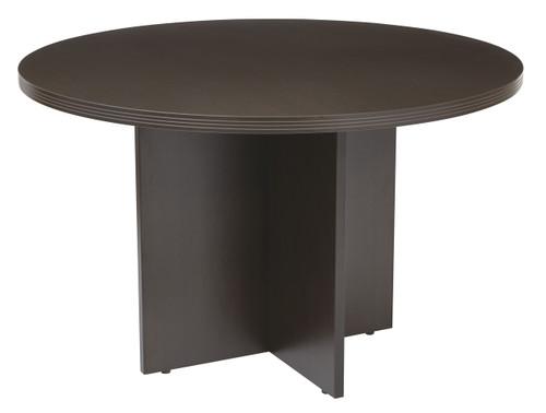 Napa Round Conference Table in Espresso