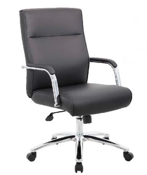 Conference Chair with Lumbar Black Leatherette