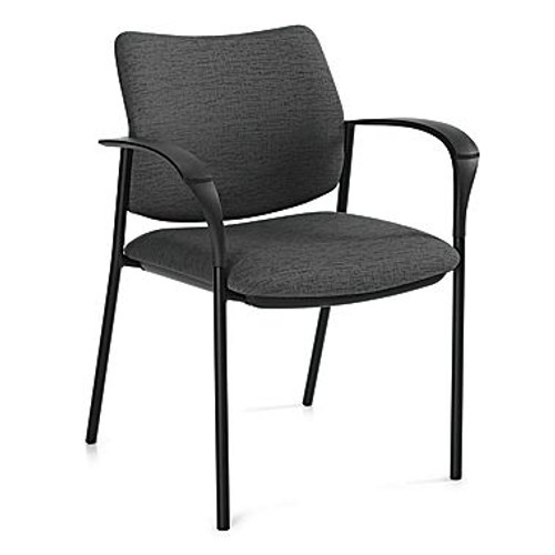 Global Sidero Guest Chair in Granite Rock fabric with arms