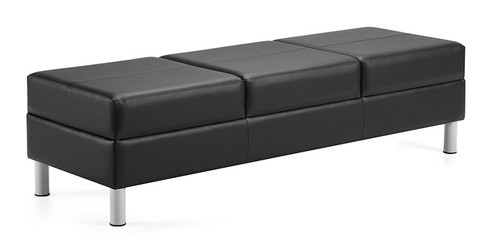 Citi Three Seat Leather Bench