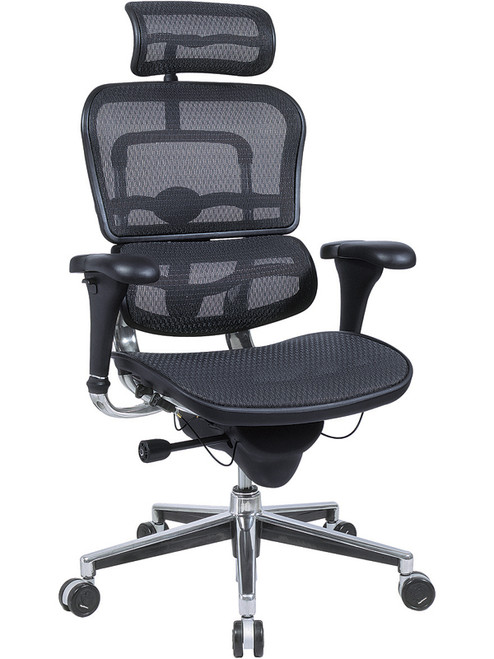 EuroTech Ergohuman High Back All Mesh Executive in Black Mesh