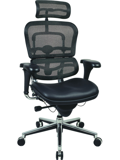 EuroTech Ergohuman Leather Mesh High Back Executive