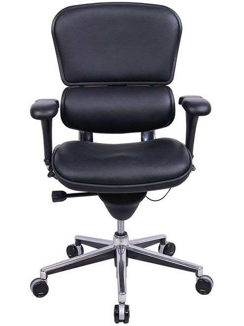 EuroTech Ergohuman Leather Mid Back Executive