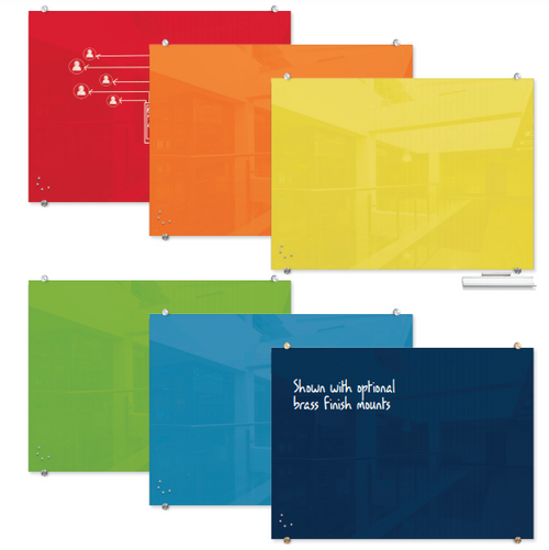 Visionary® Colors Magnetic Glass Dry Erase Whiteboard Colors