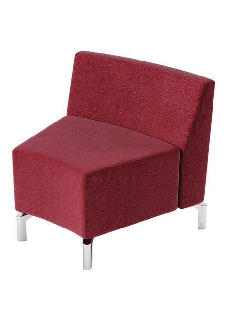 Jefferson Lounge Series - Inside Curve Chair, burgundy