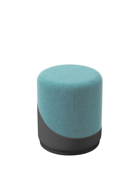 Jefferson Lounge Series - Upholstered Stool, light blue