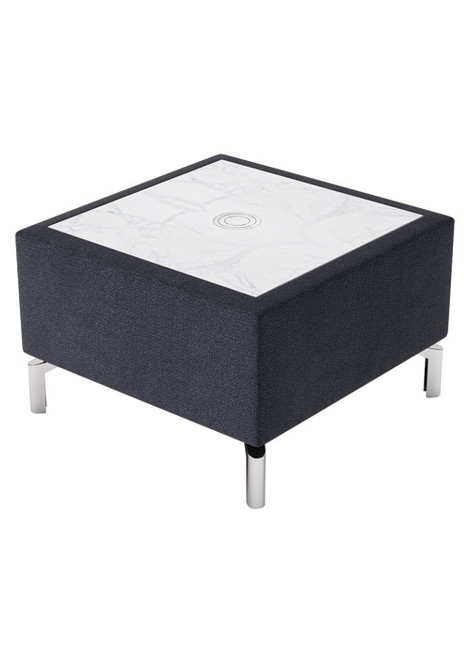 Jefferson Lounge Series - Rectangular Table , charcoal with marble top
