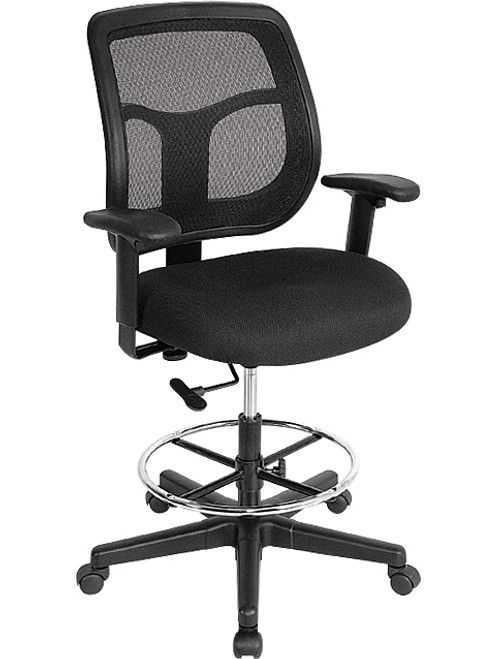 EuroTech Apollo Mesh Back Drafting Stool