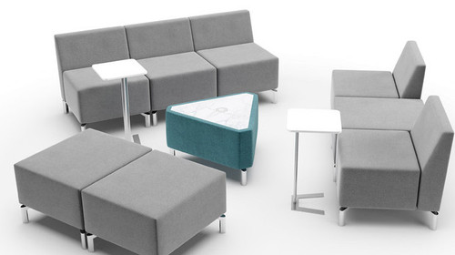 Jefferson Lounge Series - Triangle Typical, taupe and light blue