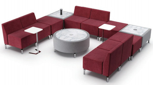 Jefferson Lounge Series - U ShapeTypical, burgundy and taupe
