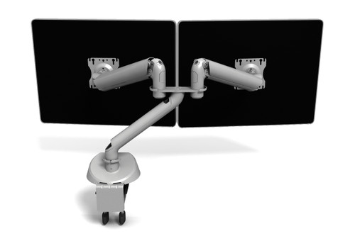 Symmetry King Cobra Dual High Splitter Monitor Arm with Power & USB Module