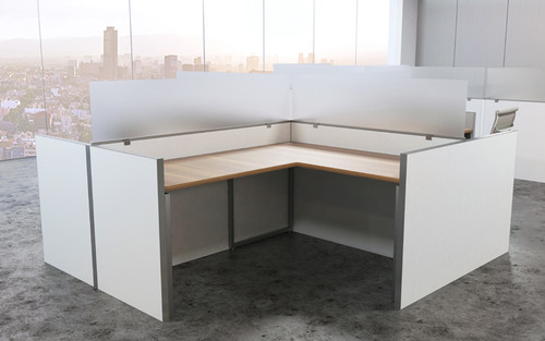 OBEX Desk & Cubicle Mount Privacy Panels with Frameless Frosted Acrylic Panel