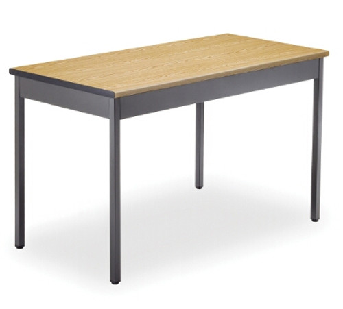 "OFM Utility Table, 48"" W x 24"" D, Oak"