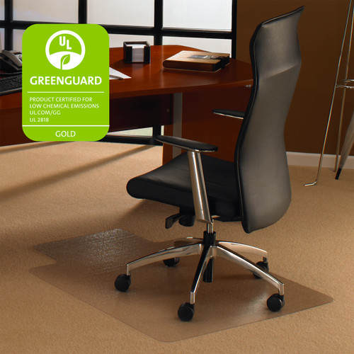 FloorTex ClearTex Ultimat Chairmat for Low & Medium Pile Carpet with Lip
