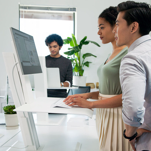 QuickStand Eco Single Monitor Sit Stand Desktop