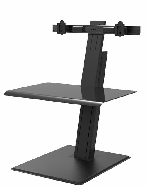 QuickStand Eco Dual Monitor Sit Stand Desktop in Black
