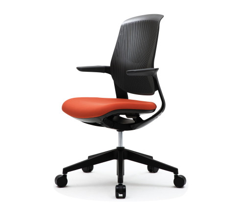 FLYT Black Flex Back Task Chair with Sienna seat