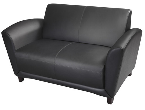 Mayline Santa Cruz Settee Black Leather