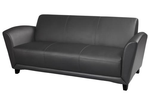 Mayline Santa Cruz Sofa in Black Leather