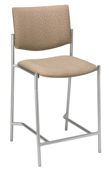 "Evolve Upholstered Hip Stool, 25"" seat"