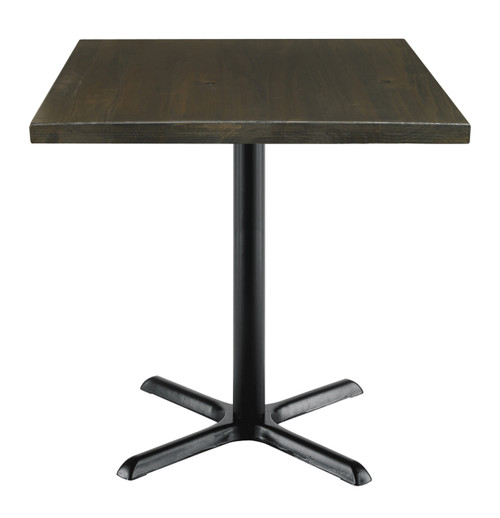 "Urban Loft Table with 30"" Top, Espresso with X Base"