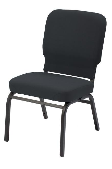 HTB1040 Heavy Duty Guest Chair, black fabric