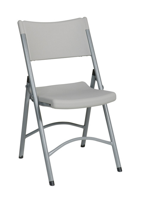 "Resin Folding Chair with 2"" Seat, grey"